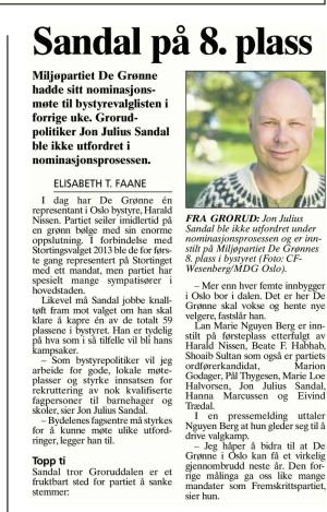 Faksimile fra Akers Avis Groruddalen 4. desember 2014.