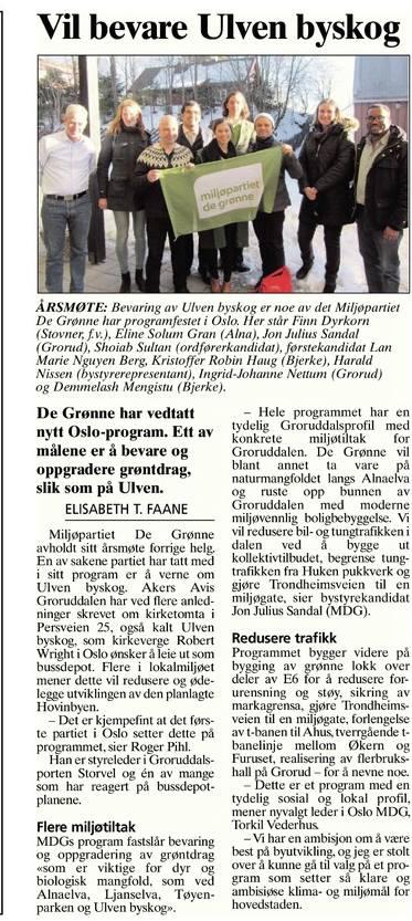 Faksimile fra Akers Avis Groruddalen 27. februar 2015.