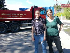 Ingrid-Johanne Nettum og Bell Batta Torheim fra Grorud MDG deltok på trafikktelling som Aksjonsgruppa Stopp Huken – Vern Marka gjennomførte 9. juni utenfor Huken pukkverk. Resultatet var 720 passeringer, i det alt vestlige store lastebiler, semitrailere og vogntog.
